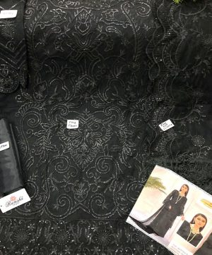 RAMSHA R 165 BLACK NET PAKISTANI SUIT WHOLESALER