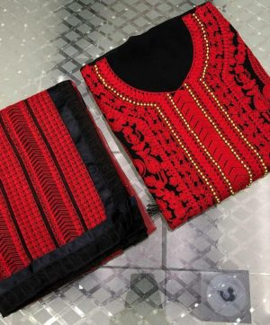 KILRUBA K 74 RED PAKISTANI SUITS SUPPLIER