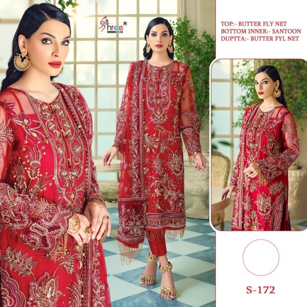 SHREE FABS S 172 PAKISTANI SUITS FREE SHIPPING