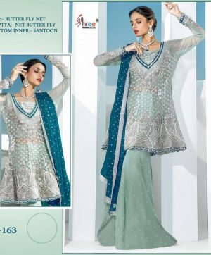 SHREE FABS S 163 PAKISTANI SUITS FREE SHIPPING