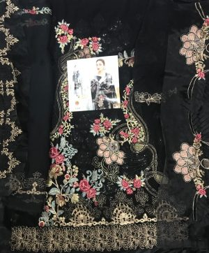 SHREE FABS S 117 BLACK PAKISTANI SUITS WHOLESALE
