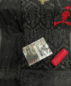 SF MBROIDERED BLACK PAKISTANI SUITS WHOLESALER