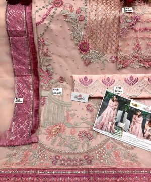RAMSHA 242 A PINK PAKISTANI SUITS SUPPLIER SURAT
