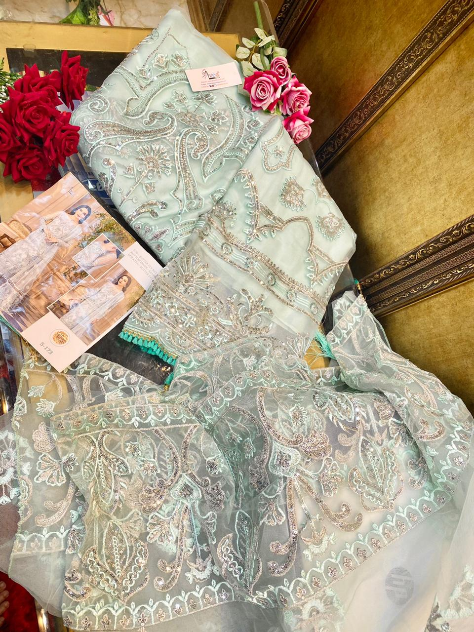 SHREE FABS S 173 PAKISTANI SUITS BEST RATE ONLINE