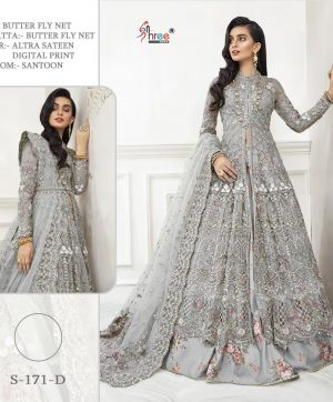 SHREE FABS S 171 D GREY WHOLESALER OF SHREE FABS