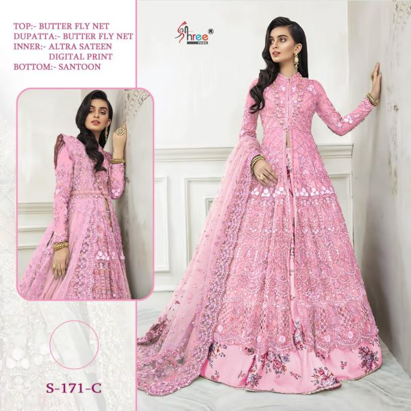 SHREE FABS S 171 C PINK WHOLESALE COLLECTION ONLINE