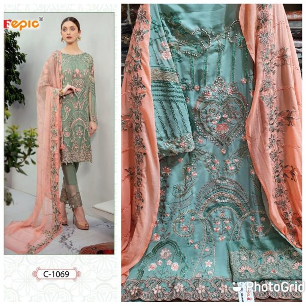 FEPIC C 1069 WHOLESALE PAKISTANI SUITS SUPPLIER