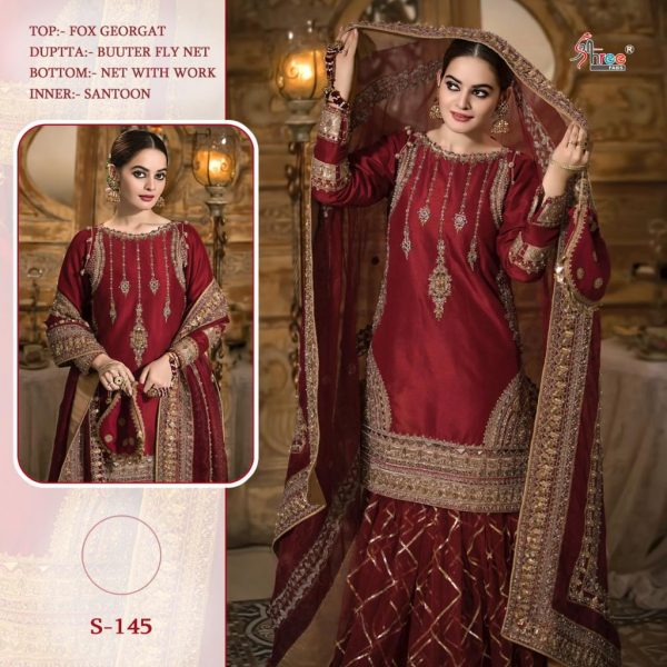 SHREE FABS S 145 PAKISTANI SUITS FREE SHIPPING