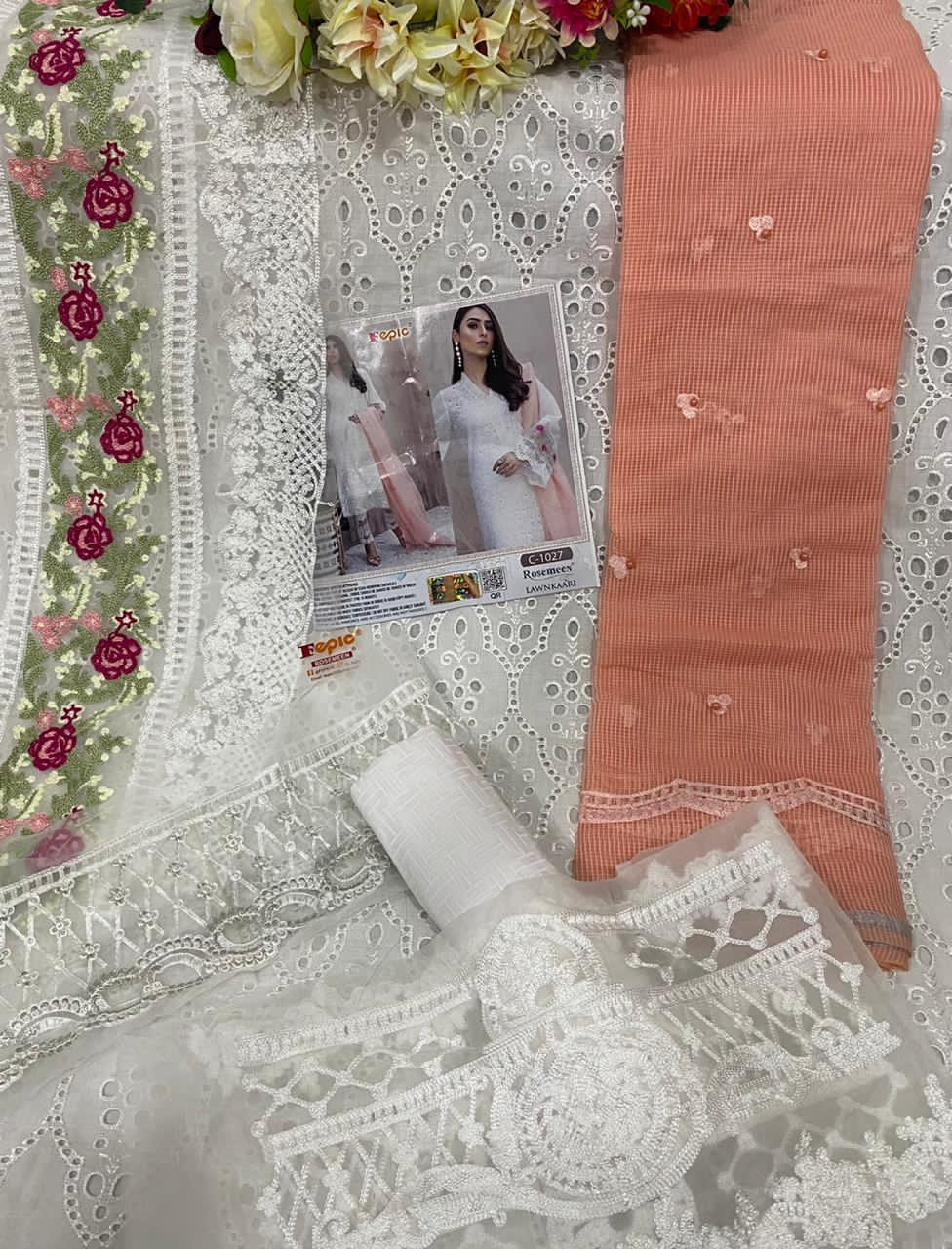 FEPIC C 1027 REAL IMAGE PAKISTANI SUITS FREE SHIPPING