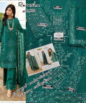 RAMSHA 219 PAKISTANI SUITS AT BEST PRICE