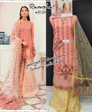 RAMSHA 211 PAKISTANI SUITS AT CHEAPEST PRICE