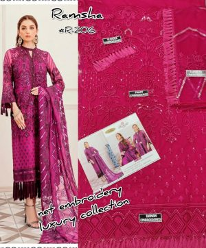 RAMSHA 206 PAKISTANI SUITS ONLINE BEST PRICE