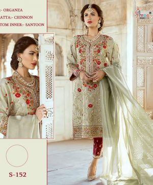 SHREE FABS S 152 PAKISTANI SUITS AT LOWEST PRICE