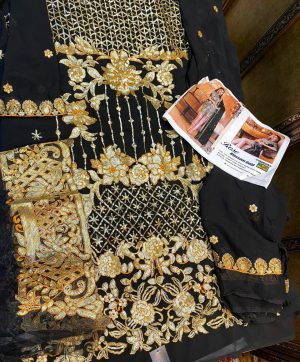 SHANAYA ROSE BLOSSOM GOLD 10001 PAKISTANI SUITS