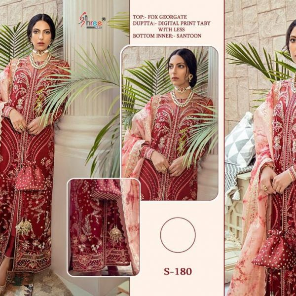 SHREE FABS S 180 PAKISTANI SUITS (1)