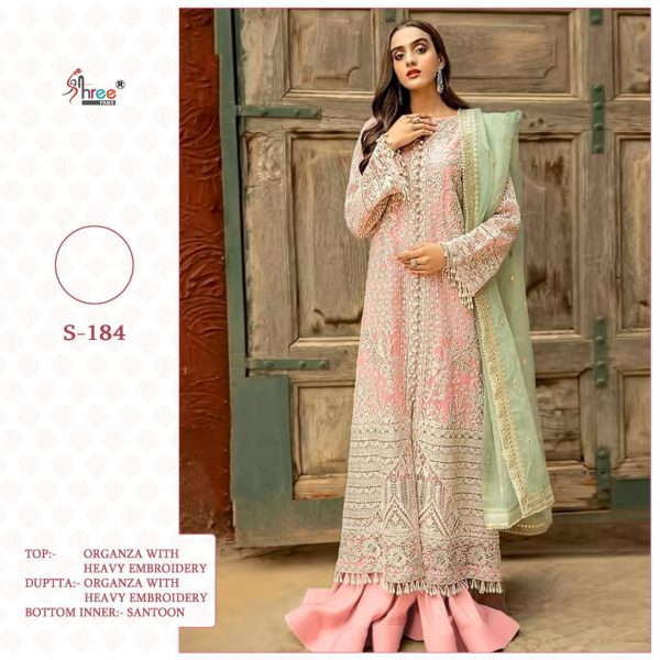 SHREE FABS S 184 PAKISTANI SUITS BEST PRICE