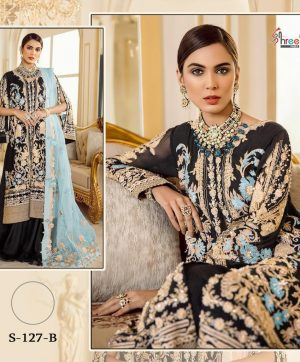 SHREE FABS S 127 B WHOLESALE PAKISTANI SALWAR KAMEEZ