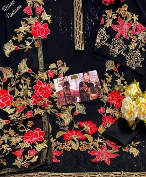 RINAZ FASHION 1061BLACK PAKISTANI SUITS FREE SHIPPING