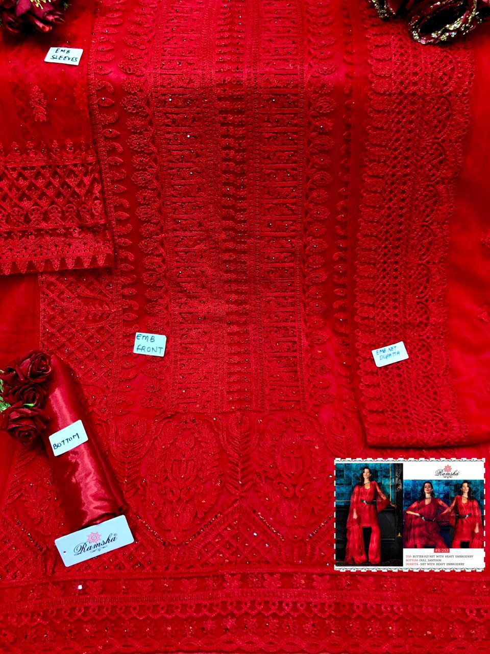 RAMSHA 253 PAKISTANI SUITS FOR RESELLERS ONLINE