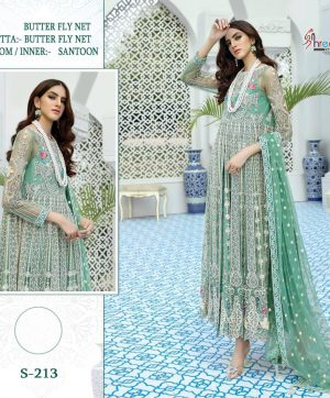SHREE FABS S 213 PAKISTANI SUITS FREE SHIPPING