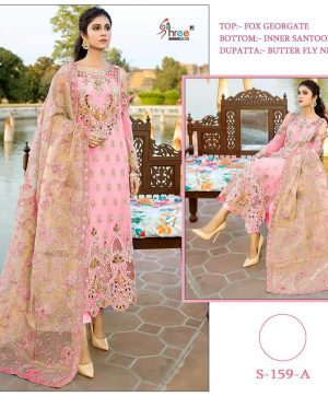 SHREE FABS S 159 A GEORGETTE PAKISTANI SUITS WHOLESALE