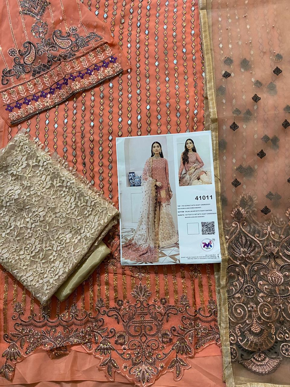 M 3 FASHION ROSEWOOD WHOLESALE MIRROR WORK SUITS
