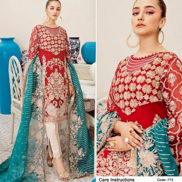 DEEPSY SUITS 773 WHOLESALE PAKISTANI SUITS SINGLES