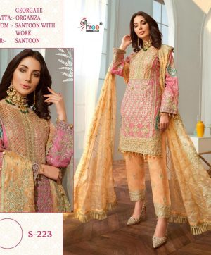 SHREE FABS S 223 LATEST PAKISTANI SUITS ONLINE