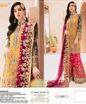 FEPIC C 1082 PAKISTANI SUITS WHOLESALE ONLINE