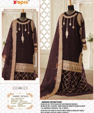 FEPIC C 1061 C WHOLESALER OF PAKISTANI SUITS ONLINE
