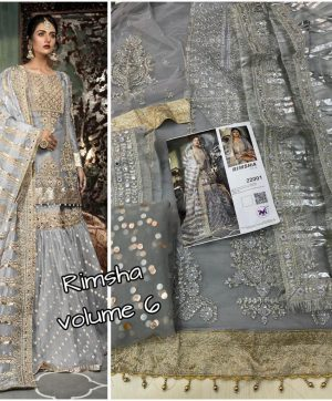 M 3 22001 GREY RIMSHA VOL 6 WHOLESALE PAKISTANI SUITS