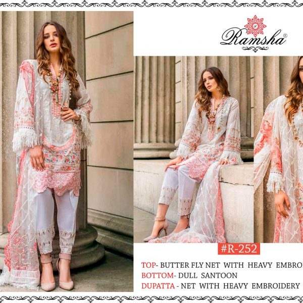 RAMSHA 252 WHOLESALE PAKISTANI SUITS MANUFACTURER