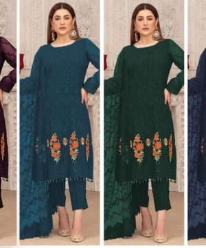 AFFAN CREATION 107 PAKISTANI SUITS CHEAPEST PRICE