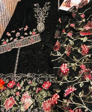 FEPIC C 1079 BLACK PAKISTANI SUIT WHOLESALER