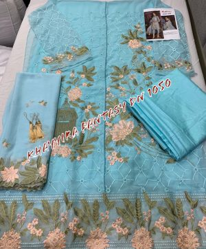 KHAYYIRA 1050 SKYBLUE PAKISTANI SUITS WHOLESALER