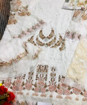 FEPIC C 1078 WHITE PAKISTANI SUITS SINGLE PIECE