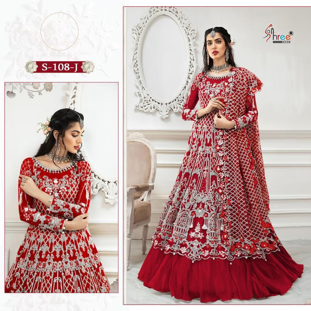 SHREE FABS S 108 J RED