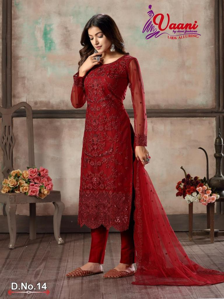 VAANI BY DANI FASHION 14 PAKISTANI SUITS WHOLESALER