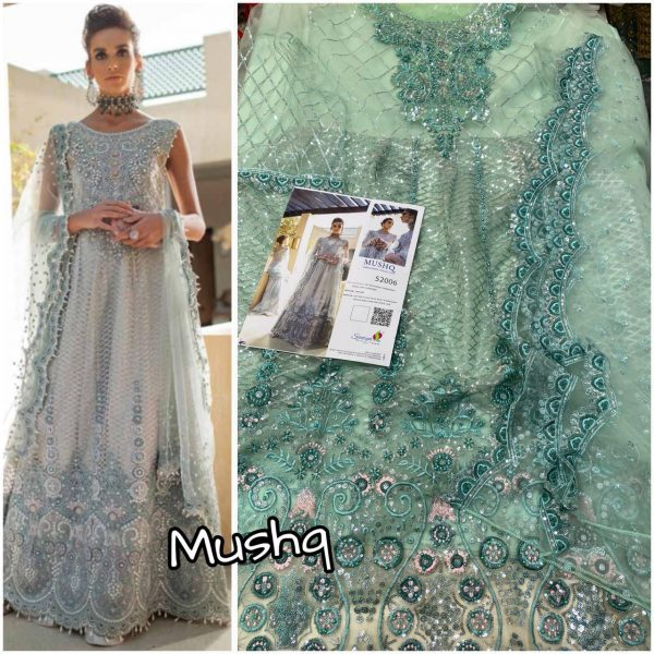 SANIYA TRENDZ MUSHQ WHOLESALE PAKISTANI SUITS