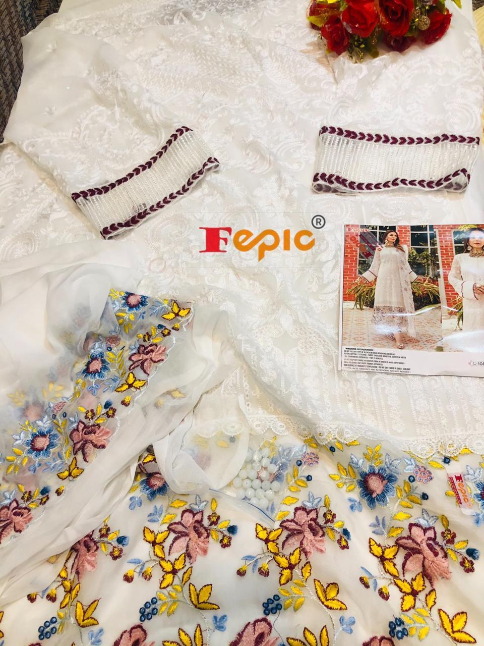 FEPIC C 1081 PAKISTANI SUITS IN SINGLES BEST PRICE