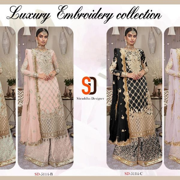 SHRADDHA DESIGNER 5114 COLORS WHOLESALE