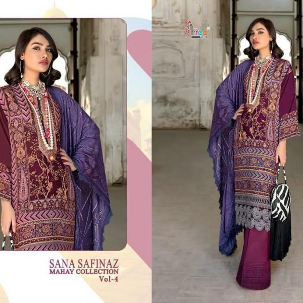 SHREE FAB SANA SAFINAZ MAHAY VOL 4 IN SINGLES (5)