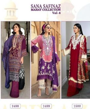 SHREE FAB SANA SAFINAZ MAHAY VOL 4 IN SINGLES