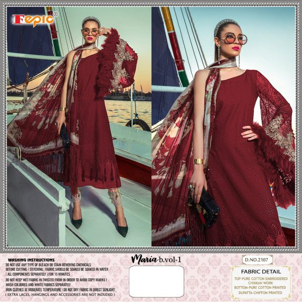 FEPIC MARIA B 2107 COTTON SALWAR KAMEEZ