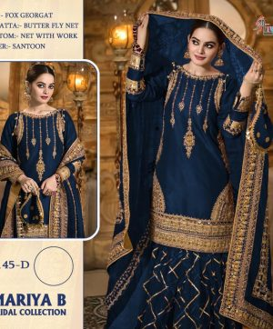 SHREE FABS S 145 D BLUE PAKISTANI SUITS WHOLESALE