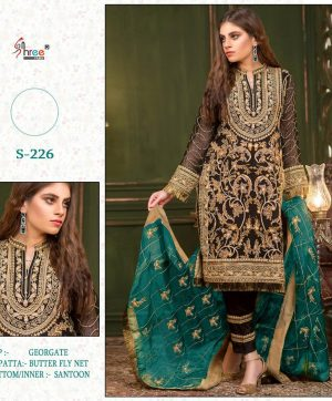SHREE FABS S 226 LATEST PAKISTANI SUITS ONLINE