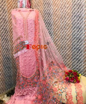 FEPIC C 1029 C PINK COLOR WHOLESALE SUITS