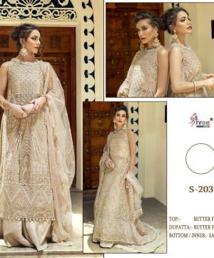 SHREE FABS S 203 PAKISTANI SUITS LATEST SINGLES