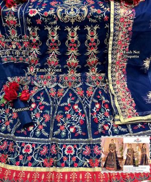 RAMSHA R 263 PAKISTANI SUITS FOR ONLINE RESELLERS