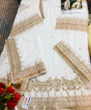 FEPIC C 1080 WHITE PAKISTANI SUITS WHOLESALER